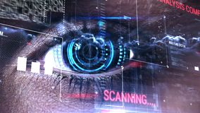 Ψηφιακός κώδικας με το άνοιγμα ματιών απόθεμα βίντεο