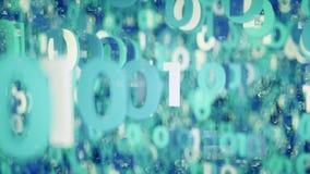 Ψηφιακός κώδικας binare - τρισδιάστατη απόδοση διανυσματική απεικόνιση