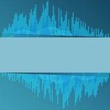 Ψηφιακός μπλε εξισωτής. Στοκ φωτογραφία με δικαίωμα ελεύθερης χρήσης