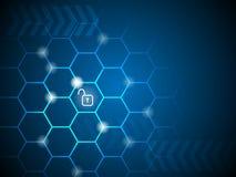 Ψηφιακός ξεκλειδώστε τη βασική τεχνολογία επιχειρησιακή έννοια, περίληψη backgr απεικόνιση αποθεμάτων