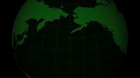 Ψηφιακός πράσινος γήινος βρόχος απόθεμα βίντεο