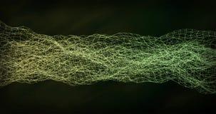 Ψηφιακός πράσινος κίτρινος κυματισμός κυμάτων υποβάθρου αφηρημένος στοκ φωτογραφίες με δικαίωμα ελεύθερης χρήσης