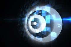 Ψηφιακός στόχος πέρα από τον υπολογισμό του σχεδίου Στοκ Εικόνα