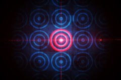 Ψηφιακός στόχος πέρα από τον υπολογισμό του σχεδίου Στοκ Εικόνες