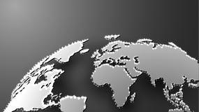 Ψηφιακός τρισδιάστατος χάρτης που φωτίζεται στο γκρίζο υπόβαθρο Στοκ φωτογραφία με δικαίωμα ελεύθερης χρήσης