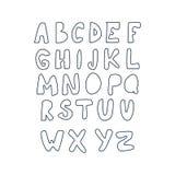 Ψηφιακό άνευ ραφής σχέδιο αλφάβητου διάνυσμα Στοκ φωτογραφία με δικαίωμα ελεύθερης χρήσης
