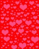 Ψηφιακό έγγραφο λευκώματος αποκομμάτων καρδιών Στοκ Φωτογραφία
