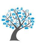 Ψηφιακό κοινωνικό δέντρο μέσων Στοκ φωτογραφία με δικαίωμα ελεύθερης χρήσης