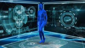 Ψηφιακό ανθρώπινο περπάτημα ελεύθερη απεικόνιση δικαιώματος