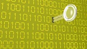 Ψηφιακό ασημένιο κλειδί στο χρυσό Στοκ Εικόνες