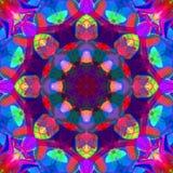 Ψηφιακό αφηρημένο ζωηρόχρωμο Floral Mandala υπόβαθρο ζωγραφικής ελεύθερη απεικόνιση δικαιώματος