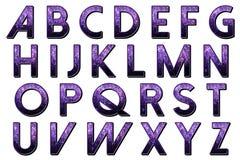 Ψηφιακό αλφάβητο Dolce Vita λευκώματος αποκομμάτων διανυσματική απεικόνιση