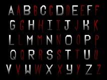 Ψηφιακό βαμπίρ Trublood αποκριών αλφάβητου λευκώματος αποκομμάτων διανυσματική απεικόνιση