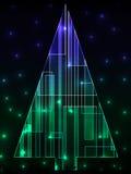 ψηφιακό δέντρο Χριστουγέν&nu Στοκ φωτογραφίες με δικαίωμα ελεύθερης χρήσης