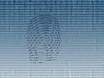 ψηφιακό δακτυλικό αποτύπ&omeg Στοκ Φωτογραφία
