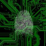 ψηφιακό δακτυλικό αποτύπ&omeg Στοκ φωτογραφία με δικαίωμα ελεύθερης χρήσης
