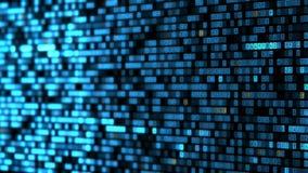 Ψηφιακό δεκαεξαδικό υπόβαθρο Μεγάλος ψηφιακός κώδικας στοιχείων Φουτουριστική έννοια τεχνολογίας πληροφοριών διανυσματική απεικόνιση