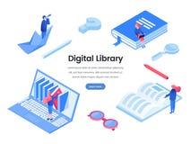 Ψηφιακό διανυσματικό πρότυπο εμβλημάτων Ιστού βιβλιοθηκών στοκ φωτογραφία με δικαίωμα ελεύθερης χρήσης