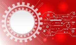 Ψηφιακό επιχειρησιακό υπόβαθρο, διανυσματικοί κύκλος τεχνολογίας και υπόβαθρο τεχνολογίας Στοκ φωτογραφία με δικαίωμα ελεύθερης χρήσης
