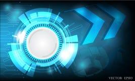 Ψηφιακό επιχειρησιακό υπόβαθρο, διανυσματικοί κύκλος τεχνολογίας και υπόβαθρο τεχνολογίας Στοκ Εικόνες