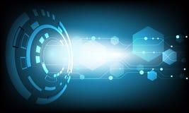Ψηφιακό επιχειρησιακό υπόβαθρο, διανυσματικοί κύκλος τεχνολογίας και υπόβαθρο τεχνολογίας Στοκ εικόνα με δικαίωμα ελεύθερης χρήσης