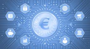 Ψηφιακό ευρώ Στοκ φωτογραφία με δικαίωμα ελεύθερης χρήσης