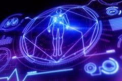 Ψηφιακό ιατρικό σκηνικό διεπαφών απεικόνιση αποθεμάτων