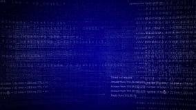 Ψηφιακό κείμενο Οθόνες στοιχείων πληροφοριών βακκινίων διανυσματική απεικόνιση
