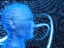 ψηφιακό κεφάλι διανυσματική απεικόνιση