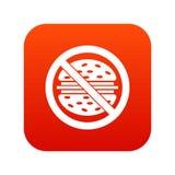Ψηφιακό κόκκινο εικονιδίων γρήγορου φαγητού στάσεων Στοκ φωτογραφία με δικαίωμα ελεύθερης χρήσης