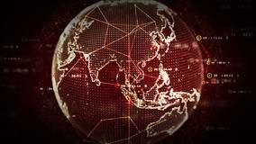 Ψηφιακό κόκκινο παγκόσμιων στοιχείων απεικόνιση αποθεμάτων