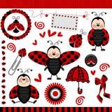 ψηφιακό λεύκωμα αποκομμάτων ladybug Στοκ Εικόνα