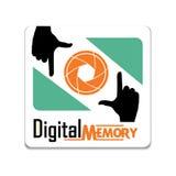 Ψηφιακό ΛΟΓΟΤΥΠΟ μνήμης φωτογραφιών Στοκ φωτογραφία με δικαίωμα ελεύθερης χρήσης
