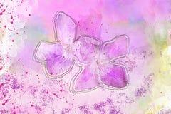 Ψηφιακό λουλούδι ζωγραφικής Watercolor στοκ φωτογραφίες