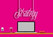 Ψηφιακό μάρκετινγκ στρατηγικής, ψηφιακή ανάπτυξη στρατηγικής, επίπεδο, διάνυσμα, επιχείρηση Ελεύθερη απεικόνιση δικαιώματος