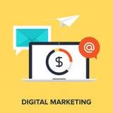 Ψηφιακό μάρκετινγκ ελεύθερη απεικόνιση δικαιώματος