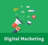 Ψηφιακό μάρκετινγκ Στοκ Εικόνα