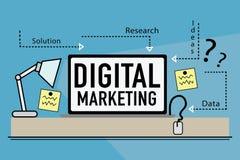 Ψηφιακό μάρκετινγκ Στοκ Εικόνες