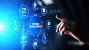 Ψηφιακό μάρκετινγκ, on-line διαφήμιση, SEO, SEM, SMM Επιχείρηση και έννοια Διαδικτύου στοκ φωτογραφία
