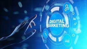 Ψηφιακό μάρκετινγκ, on-line διαφήμιση, SEO, SEM, SMM Επιχείρηση και έννοια Διαδικτύου στοκ φωτογραφία με δικαίωμα ελεύθερης χρήσης