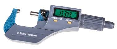 Ψηφιακό μικρόμετρο για την ακριβή μέτρηση στοκ εικόνες