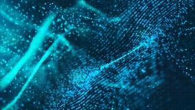 Ψηφιακό μπλε αφηρημένο υπόβαθρο μορίων κυμάτων χρώματος για το β σας ελεύθερη απεικόνιση δικαιώματος