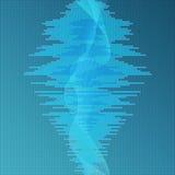 Ψηφιακό μπλε υπόβαθρο εξισωτών Στοκ Φωτογραφίες