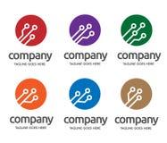 Ψηφιακό λογότυπο ηλεκτρονικής Στοκ φωτογραφία με δικαίωμα ελεύθερης χρήσης