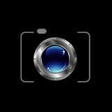 Ψηφιακό λογότυπο φωτογραφίας φωτογραφικών μηχανών Στοκ φωτογραφία με δικαίωμα ελεύθερης χρήσης