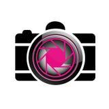 Ψηφιακό λογότυπο φωτογραφίας φωτογραφικών μηχανών Στοκ εικόνα με δικαίωμα ελεύθερης χρήσης