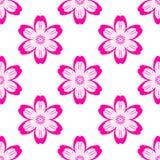 Ψηφιακό πορφυρό απλό άνευ ραφής σχέδιο λουλουδιών απεικόνιση αποθεμάτων