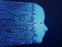 ψηφιακό πρόσωπο έννοιας Στοκ Εικόνες
