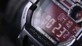 Ψηφιακό πρόσωπο ρολογιών απόθεμα βίντεο