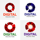 Ψηφιακό πρότυπο λογότυπων MEDIA Στοκ Εικόνες